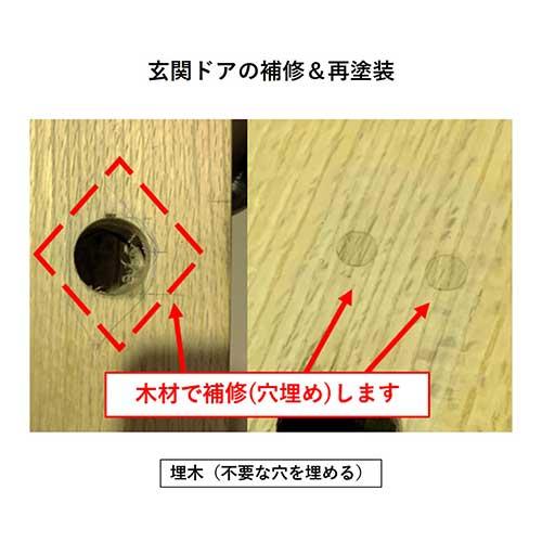 穴補修の参考画像